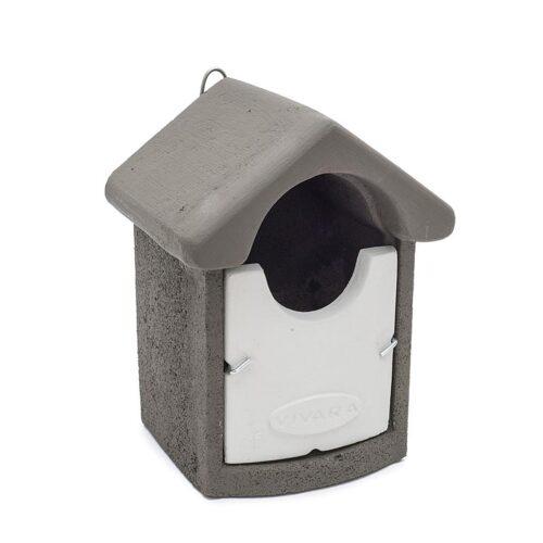 Nestkast open roodborst grijs-wit