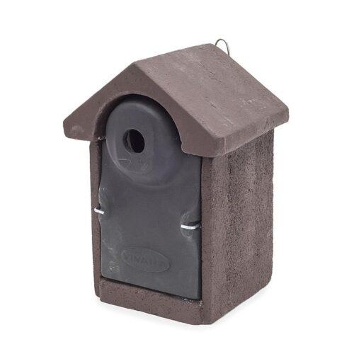 Mezen nestkast 28mm bruin-zwart