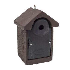 Mezen nestkast 28mm bruin-zwart links