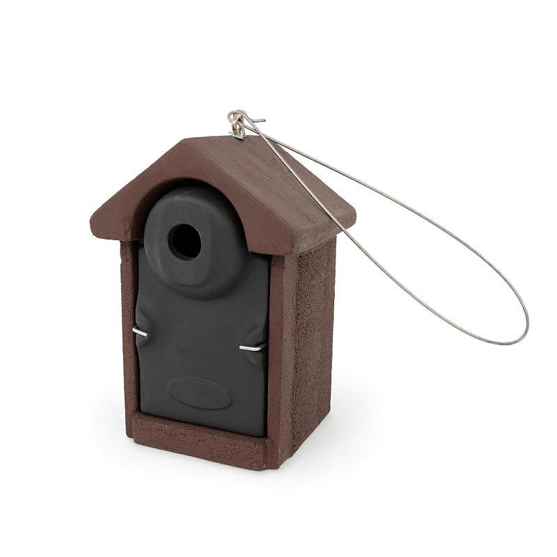 Mezen nestkast 32mm bruin-zwart rechts