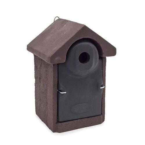 Mezen nestkast 32mm bruin-zwart