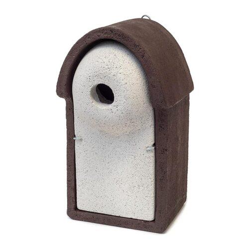 Spreeuw nestkast bruin wit