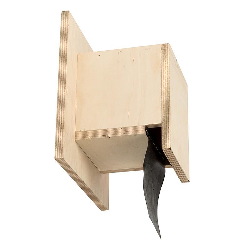 Vleermuizen exclusion flap zijaanzicht