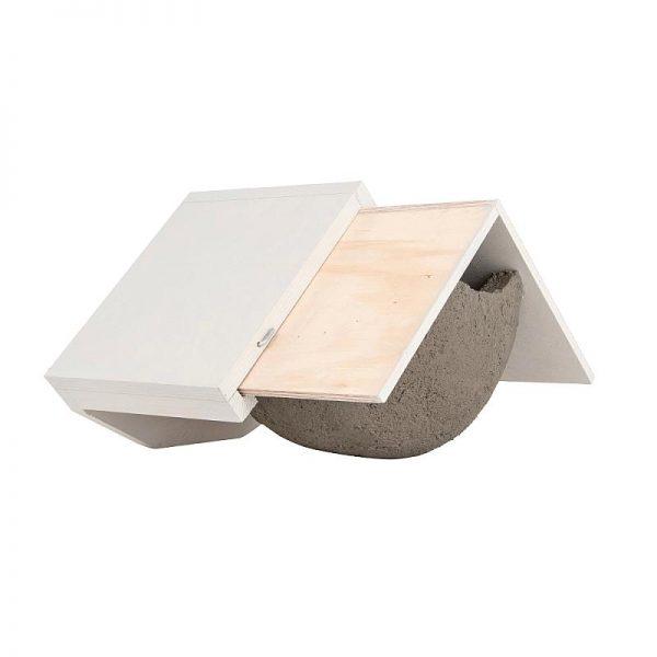 Zwaluwen huiszwaluw witte dak ladesysteem uitschuiven
