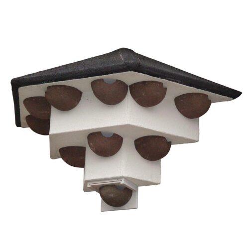 Zwaluwen huiszwaluwen wandtil vooraanzicht